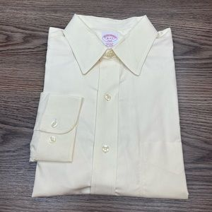Brooks Brothers Ecru Ivory Dress Shirt 16 34/35